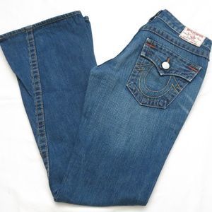 True Religion Joey Twisted Leg Denim Jeans Size 27